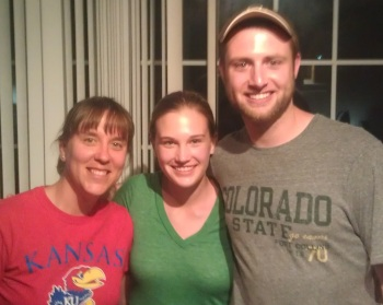 Me, Kyleen, and Kyle (our host in Fort Collins)